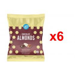 Chollo - Happy Belly Almendras con chocolate Pack 6x 130g
