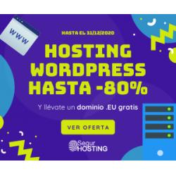 Chollo - Hasta 80% en Hosting WordPress SSD + cPanel