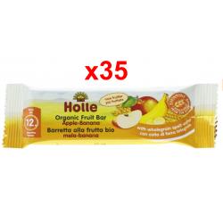 Chollo - Holle Barritas de frutas ecológicas Manzana y Plátano Pack 35x 25g