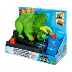 Chollo - Hot Wheels City Global Nemesis Triceratops y Lanzador de coches (Mattel GBF97)
