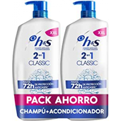 Chollo - H&S Classic Champú anticaspa + Acondicionador Pack 2x 900ml