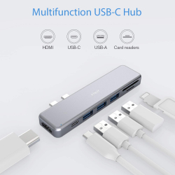 Chollo - Hub Multipuerto iHaper con USB-C Thunderbolt 3