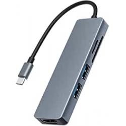 Chollo - Hub USB-C  5 en 1 Docooler TC18