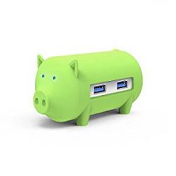 Chollo - Hub USB Orico H4018-U3 Cerdito Verde