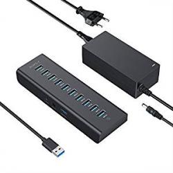 Hub USB Alimentado Aukey con 7 Puertos USB 3.0 + 3 Puertos de Carga