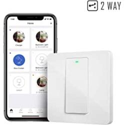 Chollo - Interruptor de pared inteligente Meross Smart Wi-Fi 2 Way Wall Switch - MSS550X