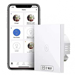 Chollo - Interruptor de pared inteligente táctil Meross Smart Wi-Fi 2 Way Wall Switch - MSS550XTOUCH