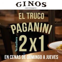 """Chollo - ¿Invitar a cenar y que te salga gratis? Con el """"truco Paganini"""" de Ginos es posible"""