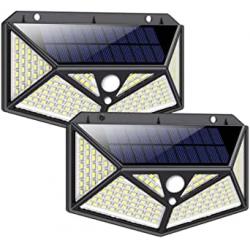 Chollo - iPosible DD13 Focos solares 150LED con sensor de movimiento Pack 2