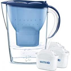 Chollo - Pack de Jarra filtrante BRITA Marella Azul 2.4L + 3 Filtros MAXTRA+