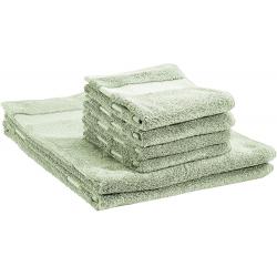 Gris Basics Juego de 6 toallas de secado r/ápido 2 toallas de ba/ño y 4 toallas de mano