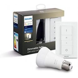 Chollo - Kit Bombilla Philips Hue White 9W E27 + Mando - 929001821603