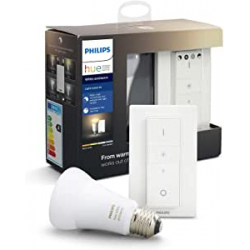 Chollo - Kit Bombilla Philips Hue White ambiance 8.5W E27 + Mando - 929002216902