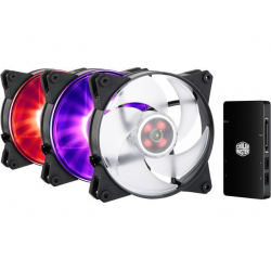 Chollo - Kit de 3 Ventiladores Cooler Master MasterFan Pro 140 Air Pressure RGB + Control