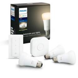 Chollo - Kit de Inicio Philips Hue White 2.0 Plus con 3 bombillas 9W E27 + Puente + Mando