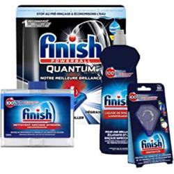 Chollo - Kit Finish Powerball Quantum Ultimate: 35 pastillas, abrillantador, protector y limpiamáquinas
