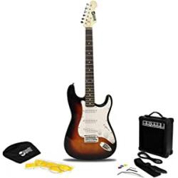 Chollo - Kit Guitarra eléctrica RockJam Superkit con amplificador y accesorios - RJEG02