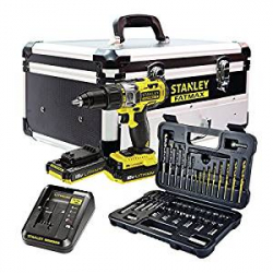 Kit Taladro Percutor Stanley Fatmax FMCK625D2F-QW + 50 accesorios + Maletín