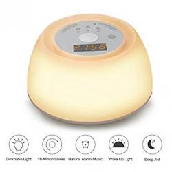 Chollo - Lámpara de Noche Despertador con  Simulación Amanecer Vadiv WL02