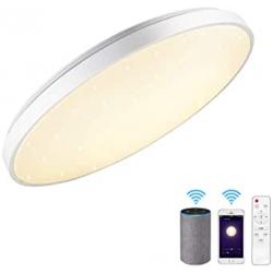 Chollo - Lámpara de Techo JDONG GmbH 24W WiFi Alexa