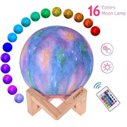 Chollo - Lámpara luna 3D Aibecy 16 colores