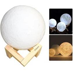 Chollo - Lámpara luna 3D Aibecy 8cm