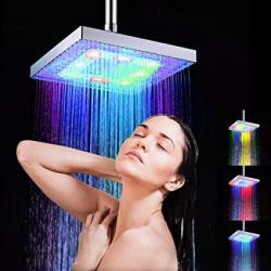 Chollo - Lepeuxi Cabezal de ducha de lluvia LED con sensor de temperatura