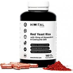 Chollo - Levadura Roja de arroz con Coenzima Q10 Hivital Foods (180 Cápsulas)