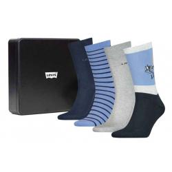 Chollo - Levi's Mountain Regular Cut Socks Giftbox Pack de 4 pares de calcetines