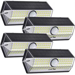 Chollo - LITOM Focos solares LED con sensor de movimiento Pack 4x| LTCD269AB