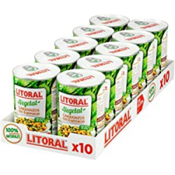 Chollo - Litoral Vegetal Garbanzos con Espinacas Pack 10x 425g