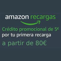Chollo - 5€ gratis al recargar tu cuenta de Amazon con 80€ por primera vez