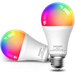 Chollo - Lomota Bombillas inteligentes 9W RGB WiFi Pack 2x
