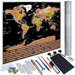 Chollo - Mapa del Mundo Anpro para Rascar + Accesorios