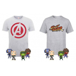 Chollo - Marvel Vs Capcom Bundle Camiseta + 4 Funko POP!
