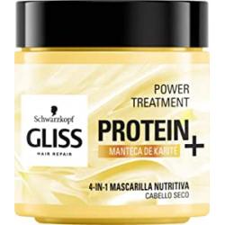 Chollo - Mascarilla capilar nutritiva 4 en 1 Gliss Protein+ con manteca de karité 400ml