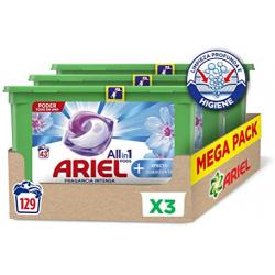 Chollo - Megapack 3x Ariel All in 1 Pods Oxi Detergente concentrado (129 lavados)