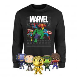 Chollo - Megapack Marvel Navidad (Sudadera Navideña + 5 Funko Pop!)