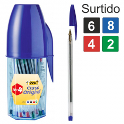 Chollo - Megatubo BIC Cristal Original 16 + 4 Bolígrafos