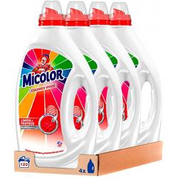 Chollo - Micolor Colores Vivos Detergente Gel 30 Lavados Pack 4x