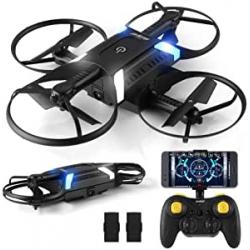 Chollo - Mini Drone plegable Helifar H816 720P WiFi FPV + 2 Baterías