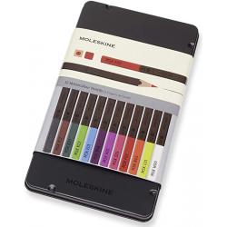 Chollo - Moleskine Lápices de acuarela 12 colores | EW7P12COLA