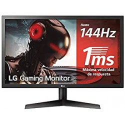 "Chollo - Monitor Gaming 23.6"" LG 24GL600F-B TN FHD 144Hz FreeSync 1ms"