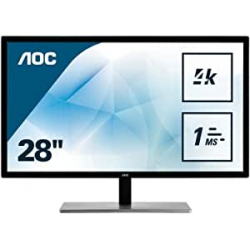 "Chollo - Monitor gaming 28"" AOC U2879VF UHD 1ms FreeSync"