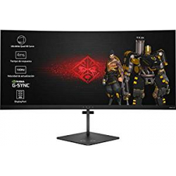 "Chollo - Monitor Gaming Curvo 35"" HP OMEN X UltraWide QuadHD 100Hz G-Sync"
