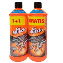 Mr. Muscle Forza Power Gel desatascador tuberías, fregaderos, lavabos y desagües 2 x 1 Litro