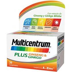 Chollo - Multicentrum Plus Ginsen & Ginko (30 Comprimidos)