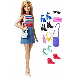 Chollo - Muñeca Barbie con Complementos (Mattel FVJ42)