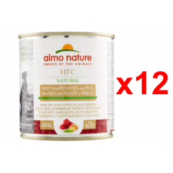 Chollo - Nature Dog HFC Cuisine Vacuno Patata y Guisantes Alimento húmedo Pack 12x 290g