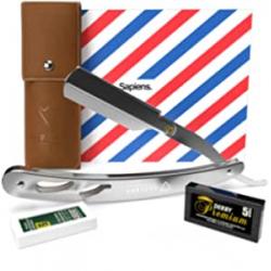 Chollo - Navaja de barbero Sapiens Silver Edition con 10 cuchillas Derby